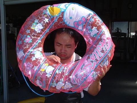 浮き輪の エア洩れ修理?! カレンダー 2008年8月 月 火 水 木... 自動車工房丸田小屋